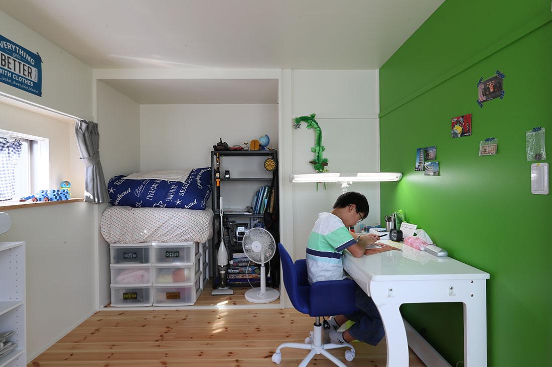 館脇町の家 子供部屋